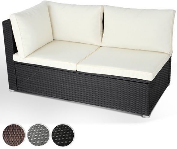 Black Poly-Rattan Corner Sofa 2 Seat Garden Outdoor Furniture Conservatory  Patio in Garden & Patio, Garden & Patio Furniture, Furniture Sets