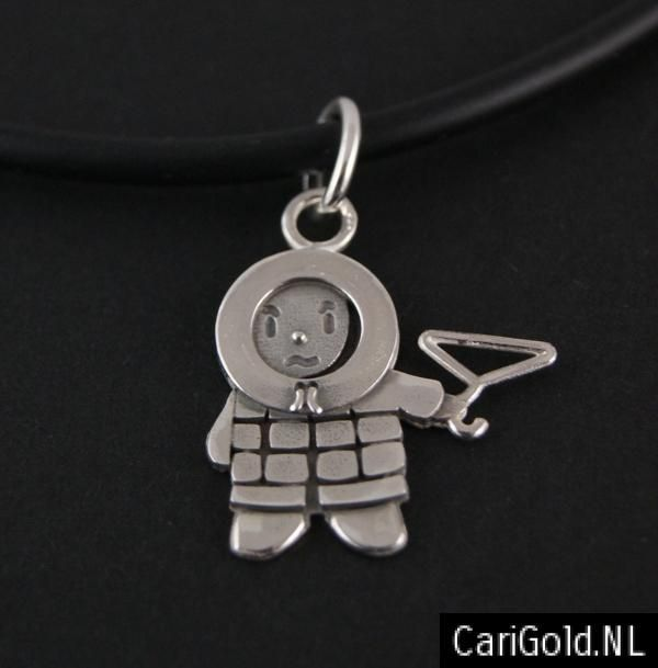 #Anoraknophobia #Barry - #Marillion - Jewellery - Handmade Sterling silver #pendant wearable on a #chain (21mm) = PENANR21 Designed by Karin Hengeveld - to order check - www.CariGold.nl