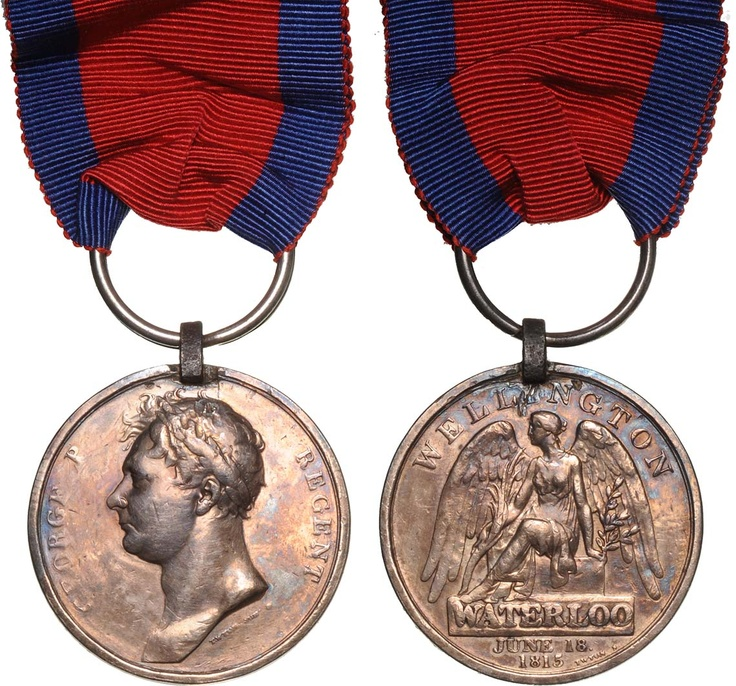 British campaign #medal of Battle of Waterloo 1815