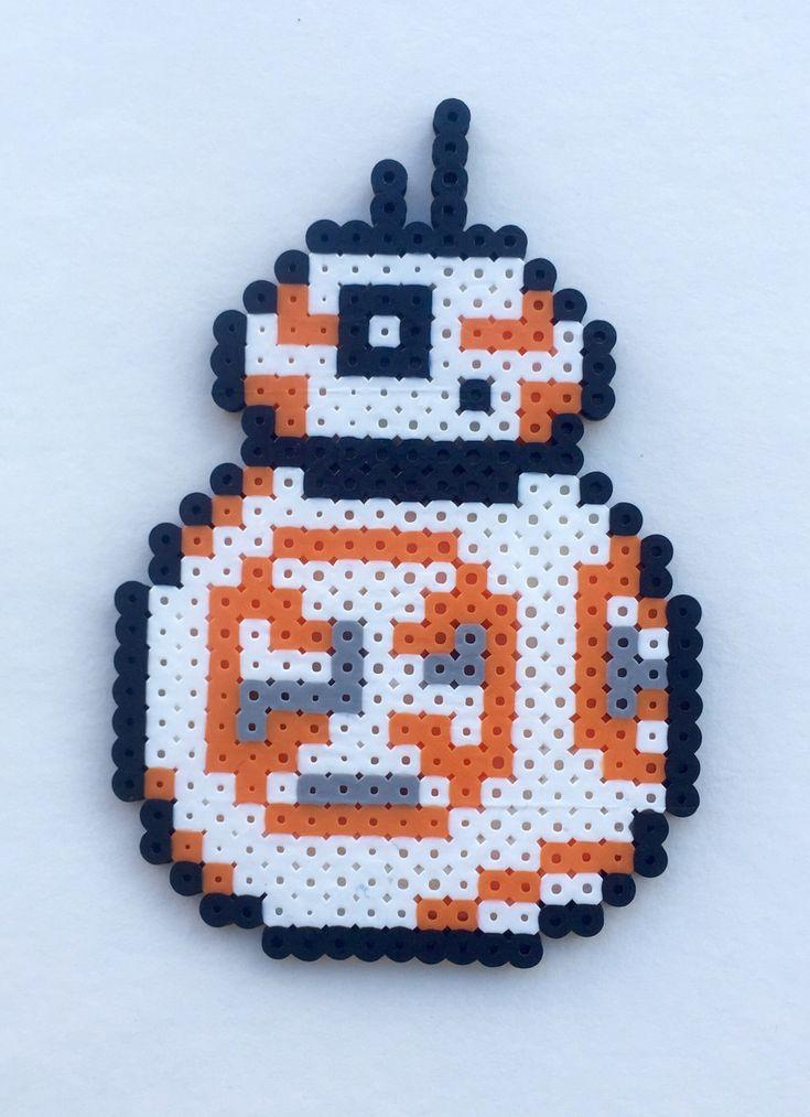 Star wars bb 8 perler bead cross stitch pattern crafting - Hama beads cuadros ...
