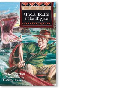 'Uncle Eddie and the Hippos' written by Lucy Farmer, illustrated by Kevin Burgemeestre, published by Black Dog Books, 2009. Signed picture book available at Books Illustrated. http://www.booksillustrated.com.au/bi_books_indiv.php?id=59