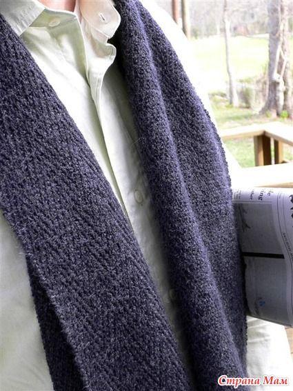 Мужской шарф Генри / Henry scarf - Вязание - Страна Мам