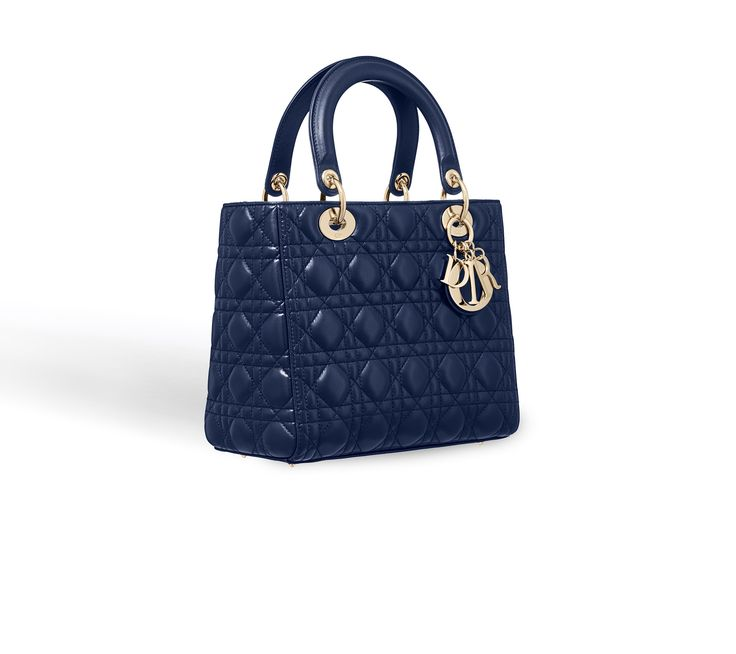Lady dior bag in blue lambskin - Dior