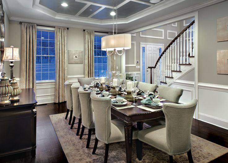 A dining room perfect for entertaining featuring the Progress Lighting Nissé collection | View Nissé: http://progresslighting.com/products.aspx?Sku=nisse