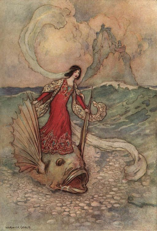 "Illustration by Warwick Goble (British,1862-1943) for ""The Three Enchanted Princes"" by Giambattista Basile [Stories from the Pentamerone, 1911)]"