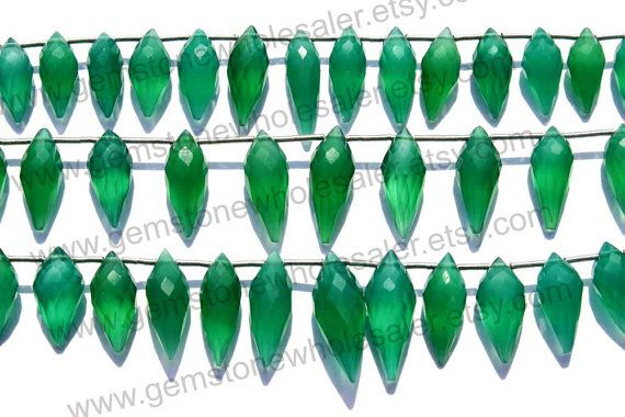 Green Onyx Faceted Chandelier Quality AAA / by GemstoneWholesaler