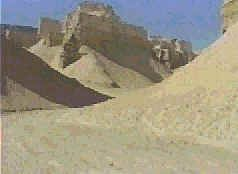 Strange city-like formations are seen in the rock cliffs south of the Dead Sea. Some suggest the ruins of Sodom and Gomorrah can be found in this area. The Bible locates the cities in the plains south of the Dead Sea.