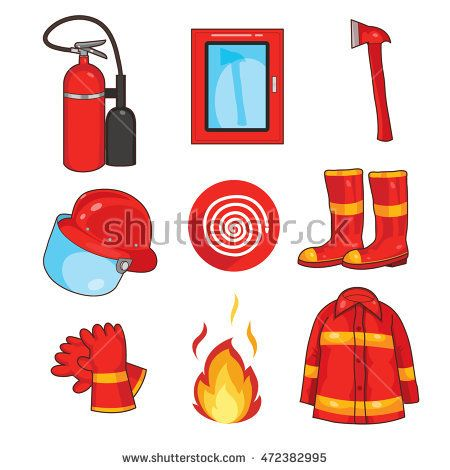 Fire Equipment vector for firefighter