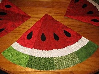 Placemats- Watermelon for Summer  I have a round table this would look great