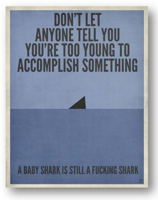 Shark Quote / Digital Poster / Youth / by ataglancegraphics, $10.00