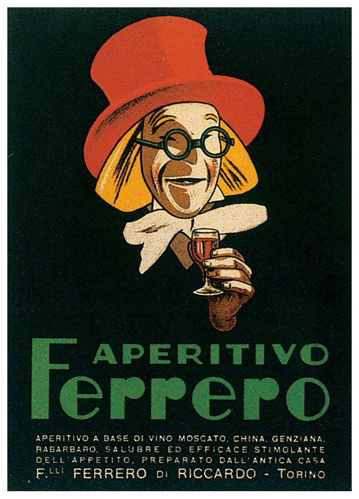 Aperitivo Ferrero :: Torino #Italy #vintage #poster