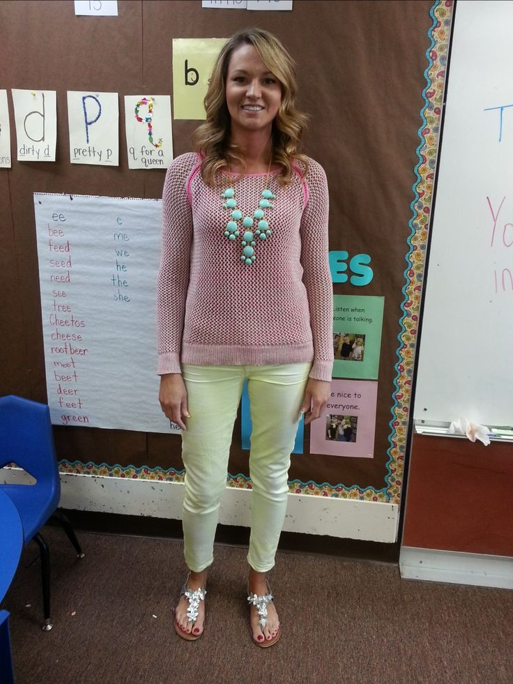 Teacher Clothing Blog- A lot of cute outfits and she doesn't wear high heels very much. Perfect!