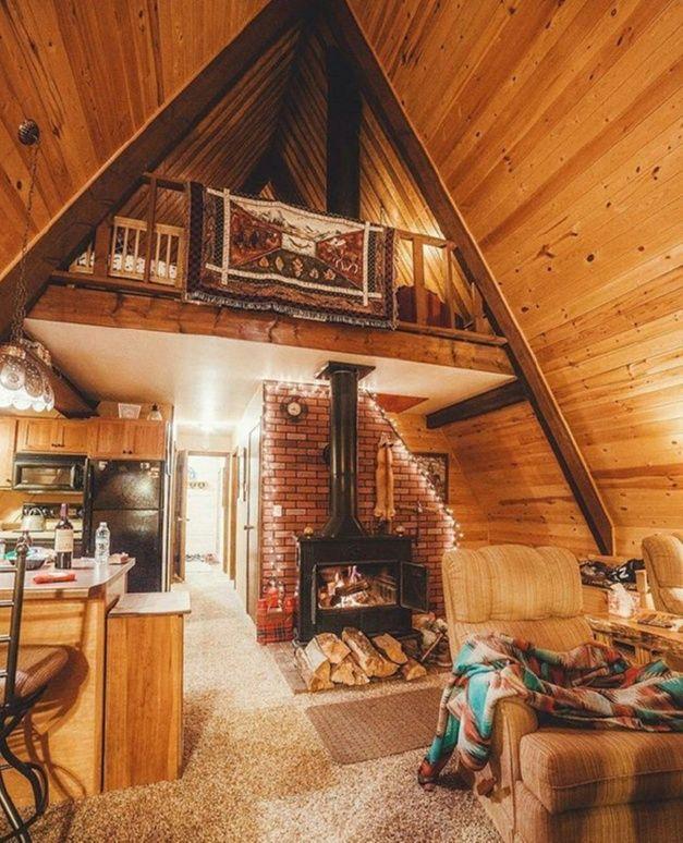 Cozy Cabin Fireplace. #CozyCabinFireplace #logCabin