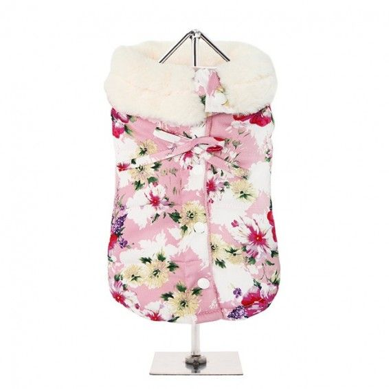 Pink Floral Dog Coat