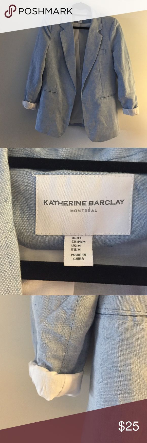 🔹 Light Blue Blazer 🔹 Katherine Barclay blazer. Never worn. Super cute and comfy. Wear it over a cute dress or with a pant suit. Katherine Barclay Jackets & Coats Blazers