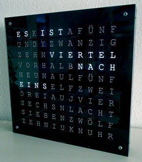 Word Clock Bauanleitung zum selber bauen