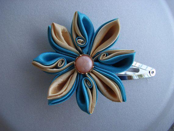 3 Kanzashi Flower Tutorials PDF Hair Accesories by natyo2010