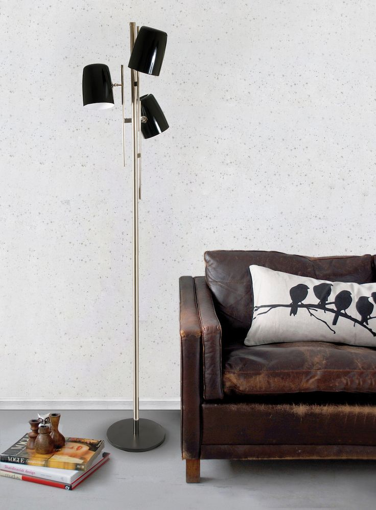 Inspired by architectural environments, Cole floor lamp is a classic lighting piece which elevate yout living room decor.