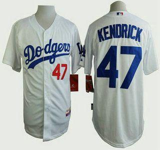 Los Angeles Dodgers Jersey 47 Howie Kendrick White Jerseys