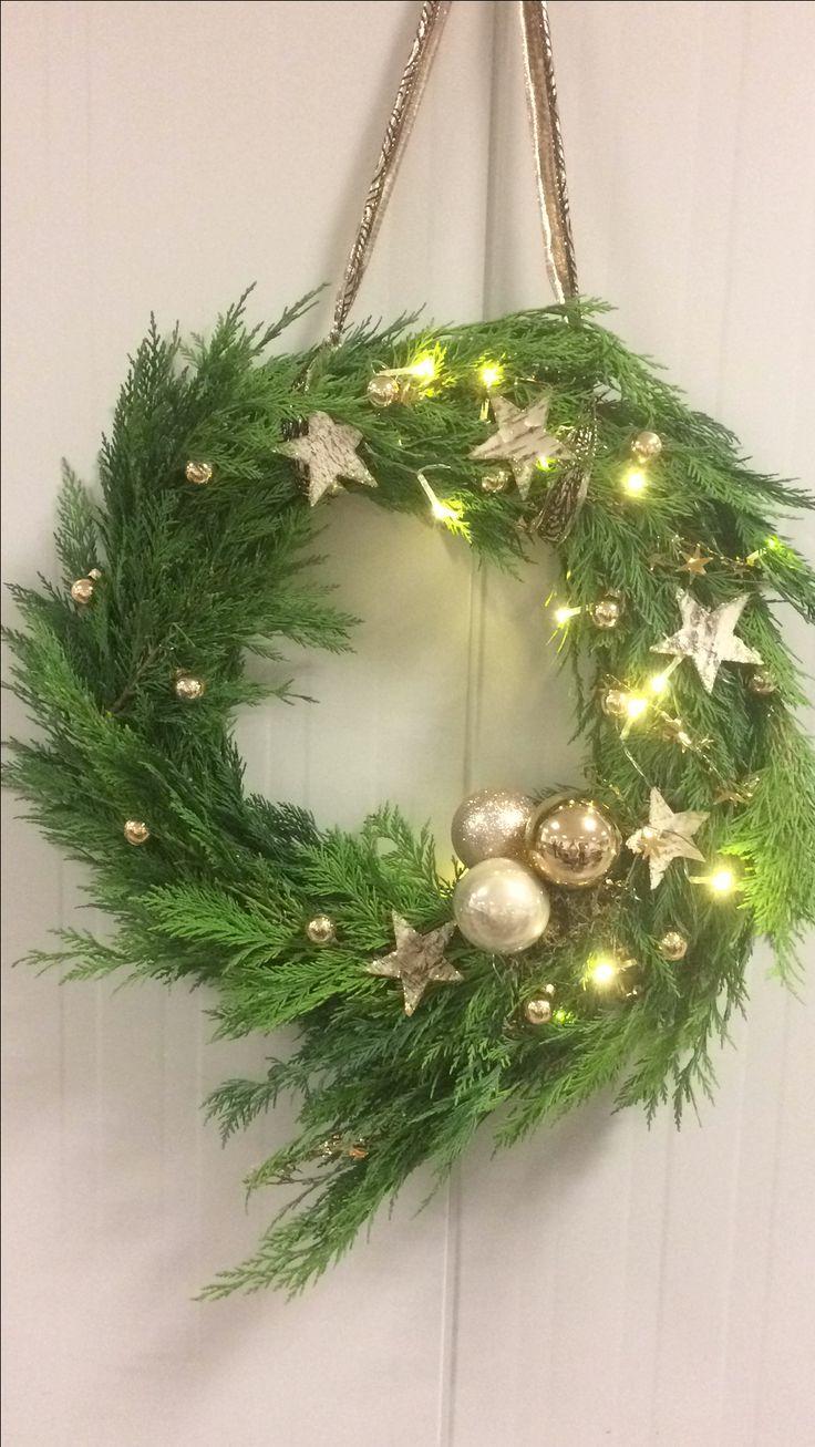 Kerstkrans sterren asymmetrisch