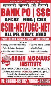 Best SSC Coaching in Mohali