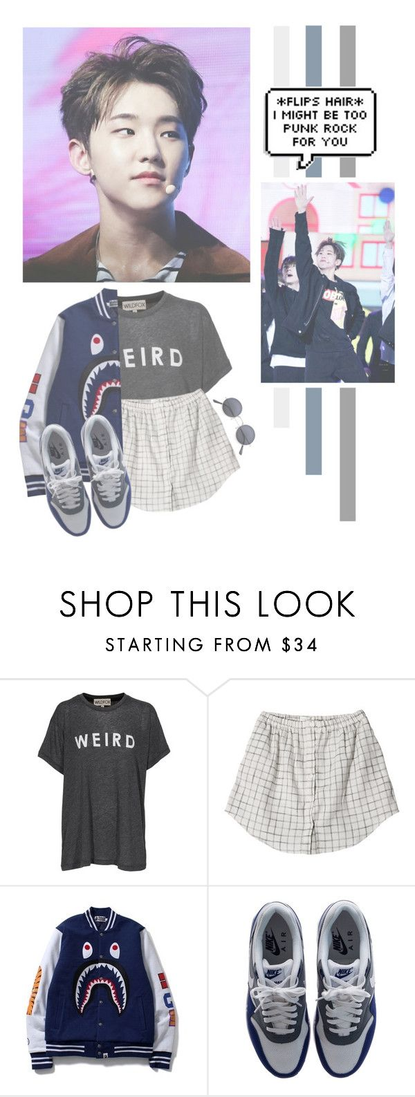 """""""Kwon Soonyoung"""" by lazy-alien ❤ liked on Polyvore featuring Wildfox, NIKE, seventeen, Hoshi and kwonsoonyoung"""