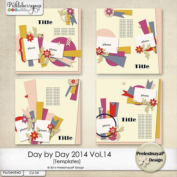 Day by Day 2014 Vol.14 Templates by PrelestnayaP Design