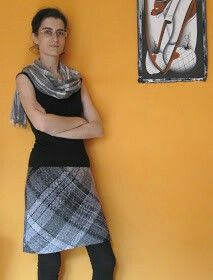 Falda telar cuadrado