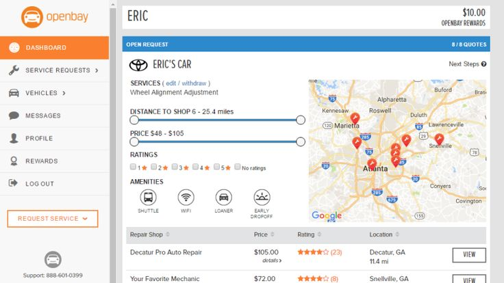 Openbay Finds Quotes and Books Appointments For Car Repairs In Your Area