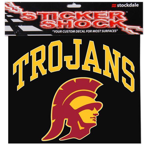 "USC Trojans 12"" x 12"" Arched Logo Decal - $11.99"