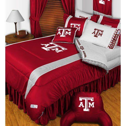 NCAA Texas AM Aggies King Comforter Pillowcases Set College Football Team Logo Bed >>> ** AMAZON BEST BUY **