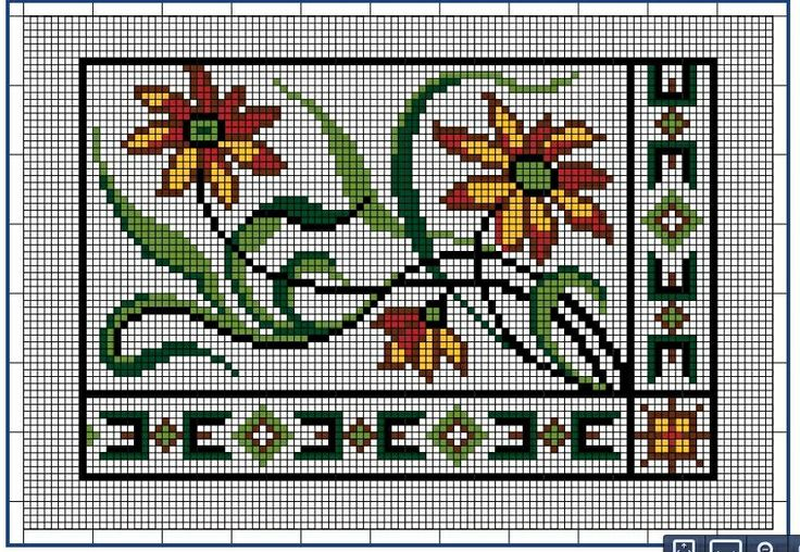 Moderne Stickerei-Vorlagen, Secession, Jugend-Styl, page 12. c. 1915. Art Nouveau cross-stitch, flowers.