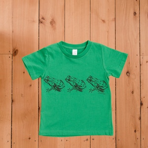 Hand printed Archey's Frog kids tee