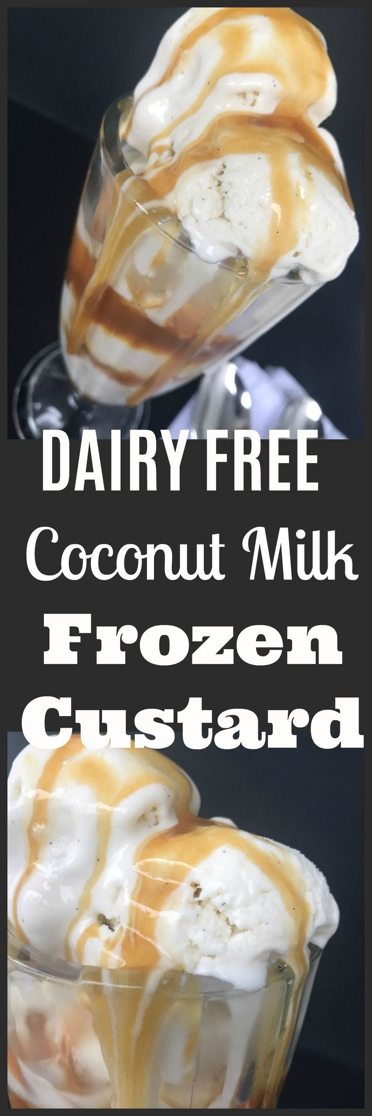 A dairy free coconut milk frozen custard recipe from Black Girls Who Brunch.