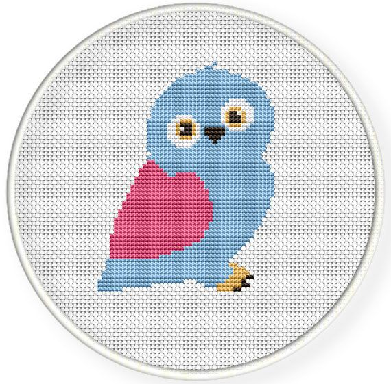 INSTANT DOWNLOAD,Free shipping,Cross stitch pattern, Cross-StitchPDF,cute owl by danceneedle on Etsy