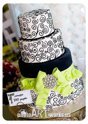 Wedding Cake...this is really nice. Would be cool to have blue and pink instead
