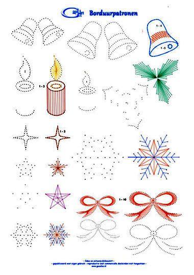 GoosArt Borduurpatronen voor kaartborduren, card embroidery, card stickerei