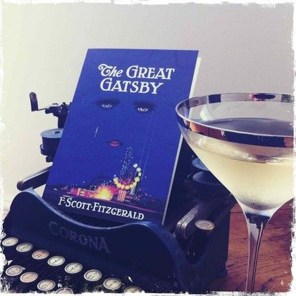 The Great Gatsby blank card from bookish. Beautiful blue.