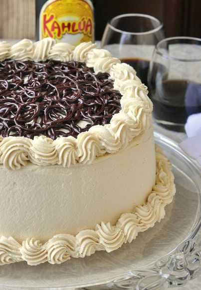 Chocolate Filled Kahlua Tiramisu Cake...the inside of this cake is beautiful!