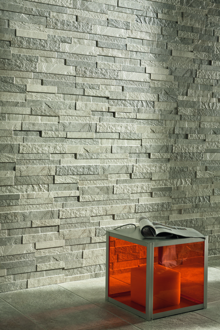 Caesar Decors. Roxstones collection: Roxwall2 & SilverGray  #tiles #decors #ceramichecaesar