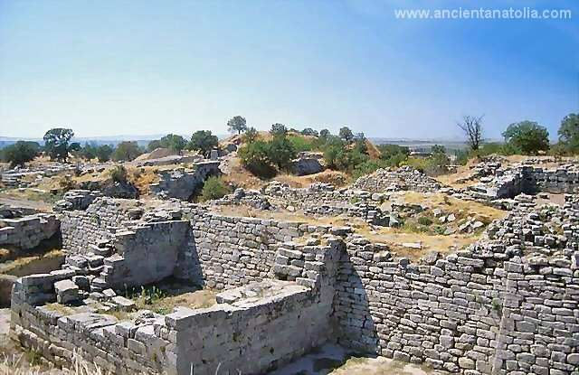 Troy legendary city of the King Priamusm and site of the Trojan war