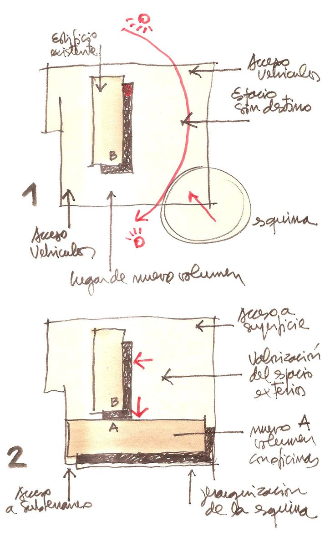 Imagen 10 de 17 de la galería de Edificio MOP Rancagua / Iglesis Prat Arquitectos + Tau 3 Arquitectos. Dibujos 1 y 2