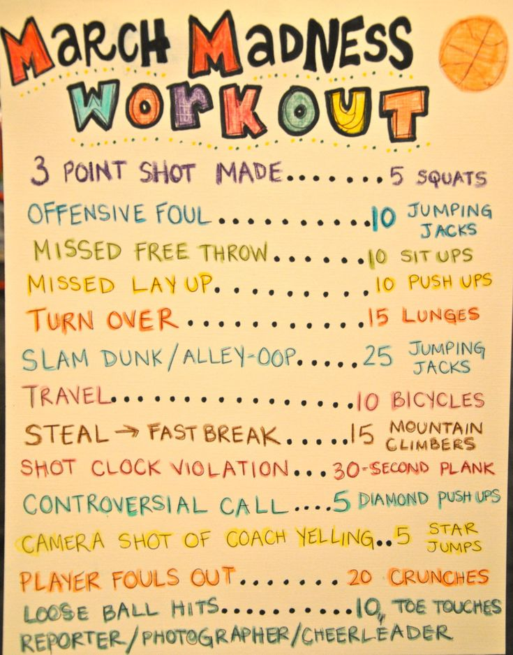March Madness workout... This is awesome! As much