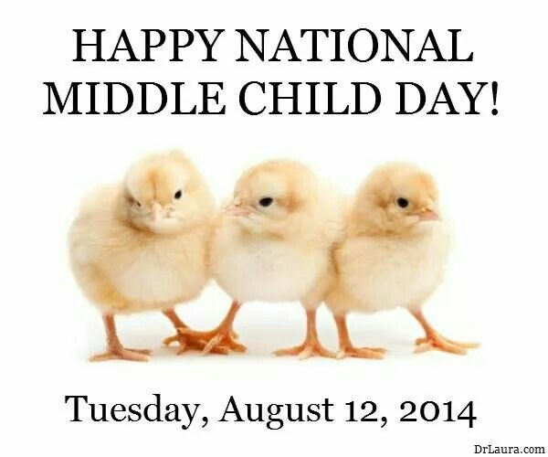 August 12th is National Middle Child Day :)