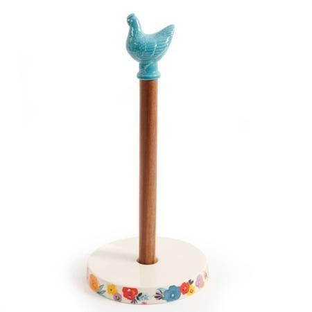 The Pioneer Woman Flea Market Blue Hen Paper Towel Holder – Walmart.com
