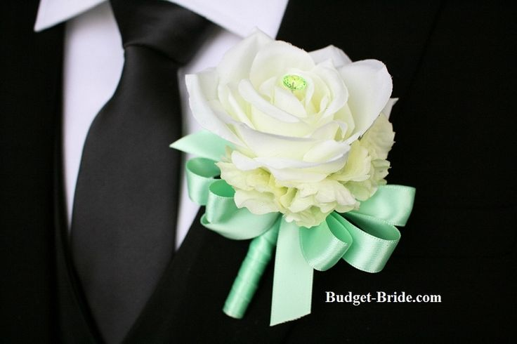 Mint Green Wedding Flower Boutonniere