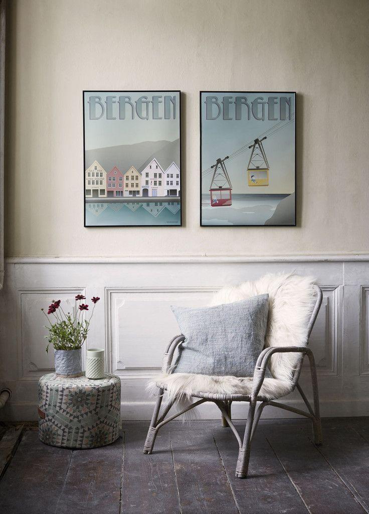 Bergen plakat fra ViSSEVASSE - Ulriken motiv - køb her!