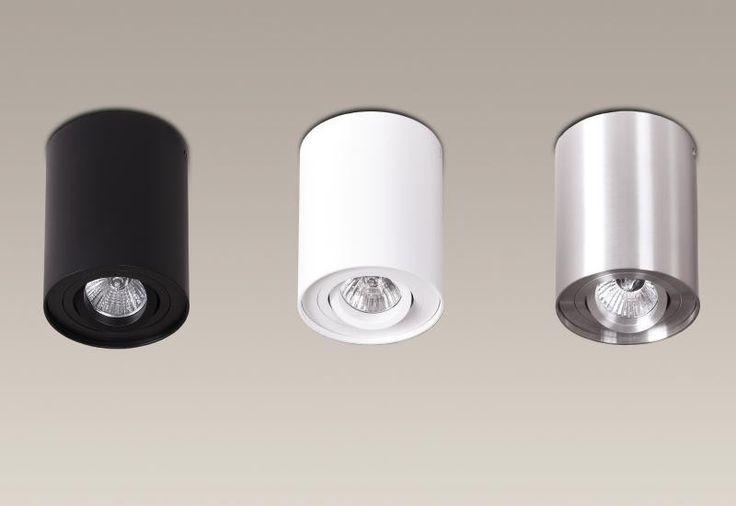 Plafonier, Spot aplicat negru, diam.9,5cm, BASIC ROUND C0068 MX - Corpuri de iluminat, lustre, aplice