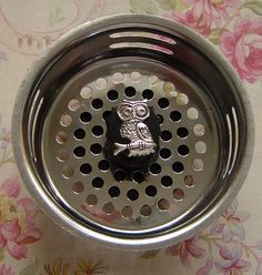 Owl Stainless Steel Kitchen Sink Strainer by FunSinkStrainers, $5.95  Omg seriously? Now I've seen it all... Yet I still want this!