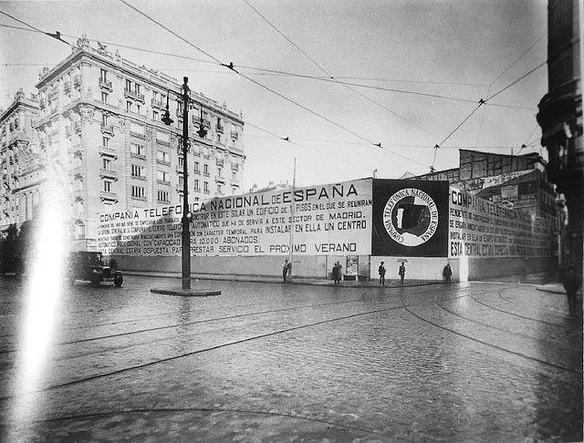 La Gran Vía sin la Telefónica. 1924
